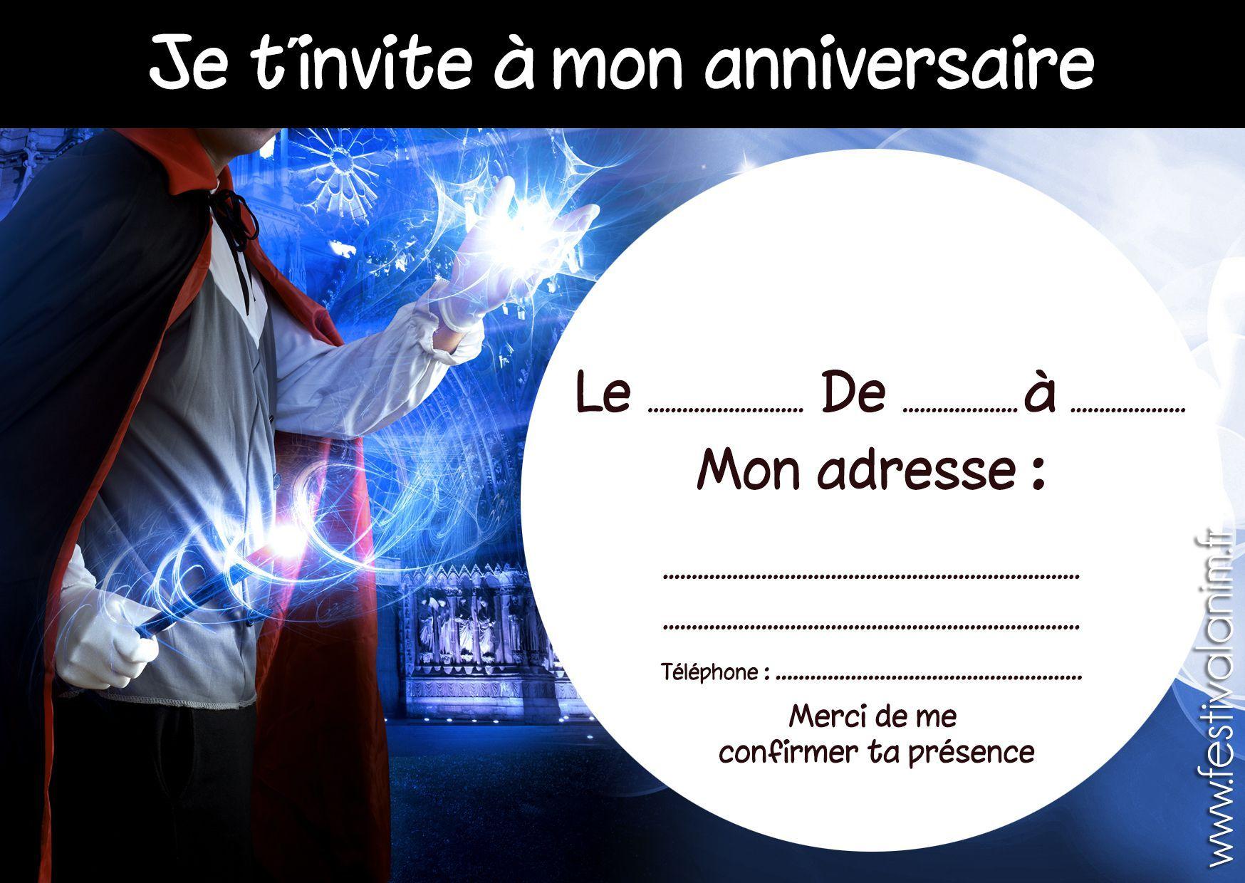 carte invitation anniversaire 40 ans : carte invitation a… en 2020 | Carte invitation ...