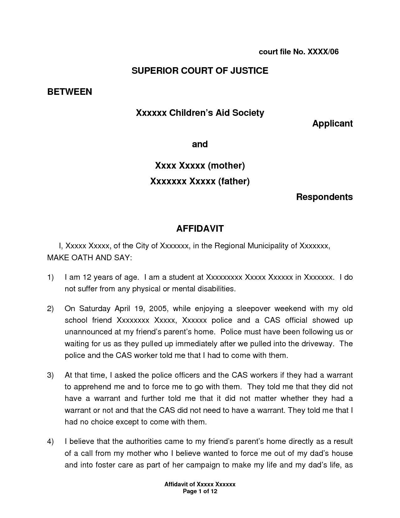 I 751 Affidavit Letter Sample Balolymyku Sworn Affidavit Sample Real State Cover Letter