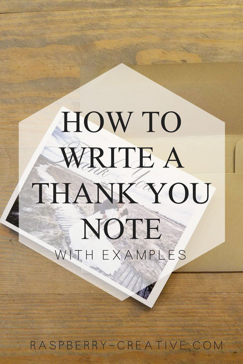 How to write a thank you note with examples raspberry