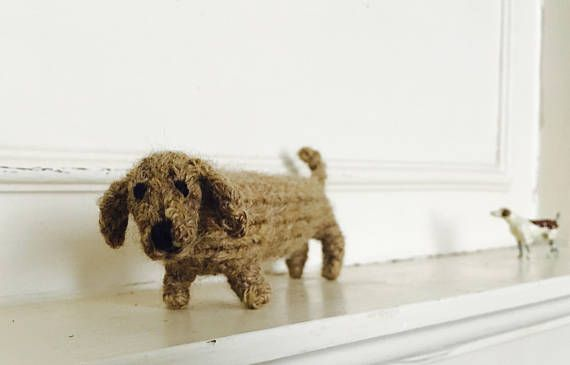 L O N G Knitted Doxie Sausage Dog Free Studio And Patterns