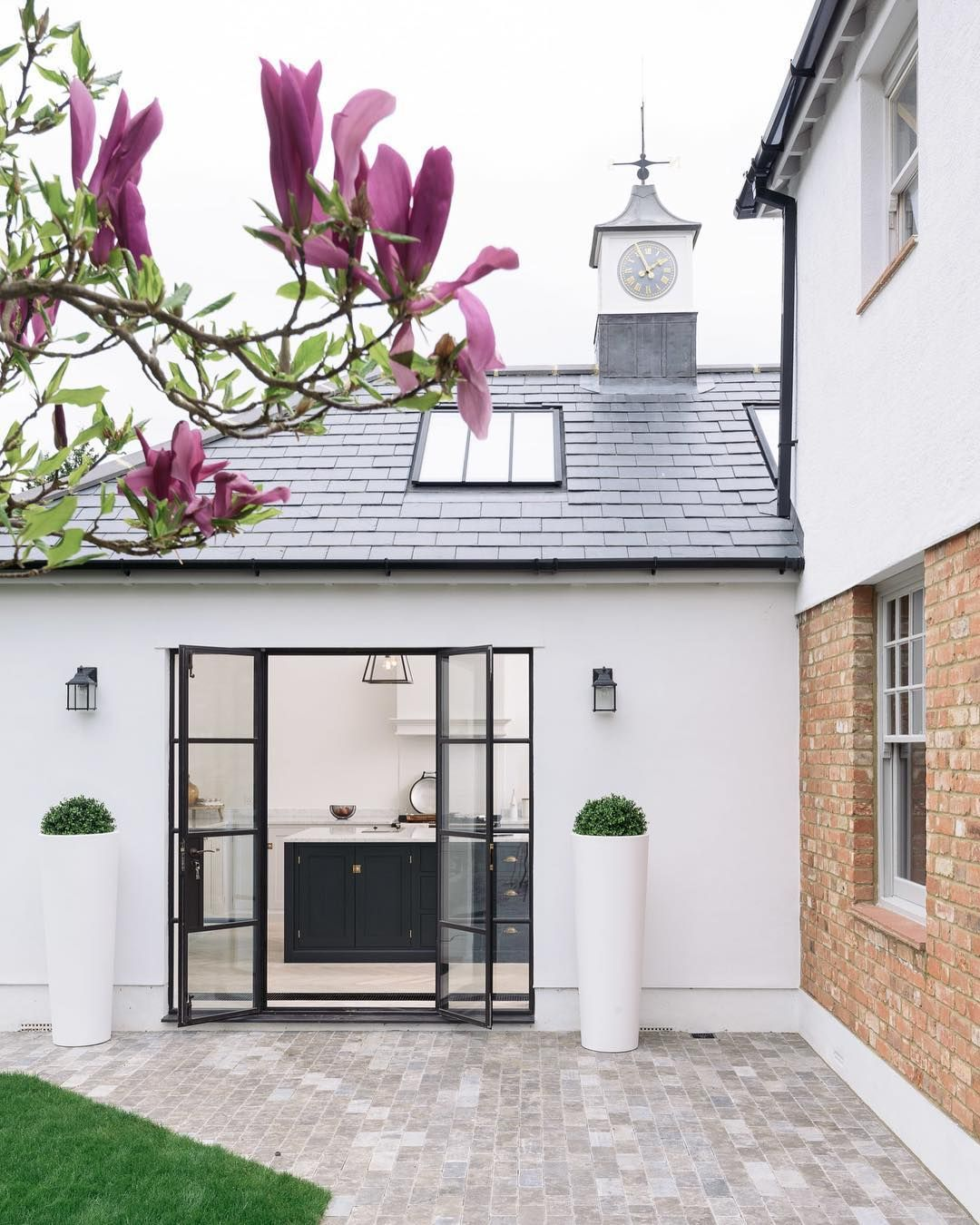 You Ll Spot These Crittall Style Windows And Doors In A Lot Of Our Projects Beautifu Minimalist Kitchen Design Minimalist Home Decor Modern Farmhouse Kitchens