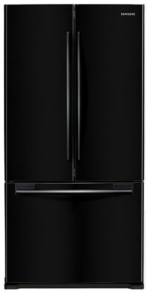 Samsung RF18HFENB 33 Inch Counter Depth French Door Refrigerator With 17.5  Cu. Ft. Capacity, 2 Tempered Glass Shelves, 2 Gallon Door Bins, Twin  Cooling ...