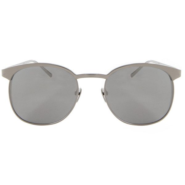 LINDA FARROW LUXE Platinum Plated Sunglasses ($1,213) ❤ liked on Polyvore featuring accessories, eyewear, sunglasses, mirror glasses, linda farrow luxe eyewear, linda farrow luxe, mirrored sunglasses and mirror sunglasses