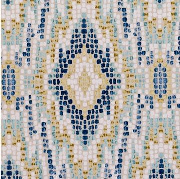 Exceptionnel Turquoise And Navy Blue Fabric   Velvet Ikat Upholstery   Mosaic Diamond  Design   Furnishing Fabric