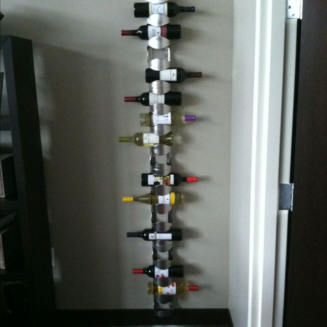 My Floor To Ceiling Wine Rack Just Finished And Love It From Ikea