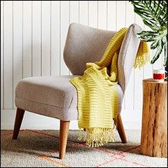 Buy West Elm Retro Wing Chair Weave Grey From Our Armchairs Range At John Lewis Find This Pin And More On Family