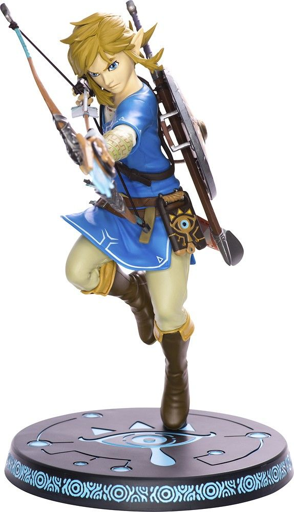FIRST 4 FIGURES THE LEGEND OF ZELDA BREATH OF THE WILD LINK 25CM STATUE NEw F4f
