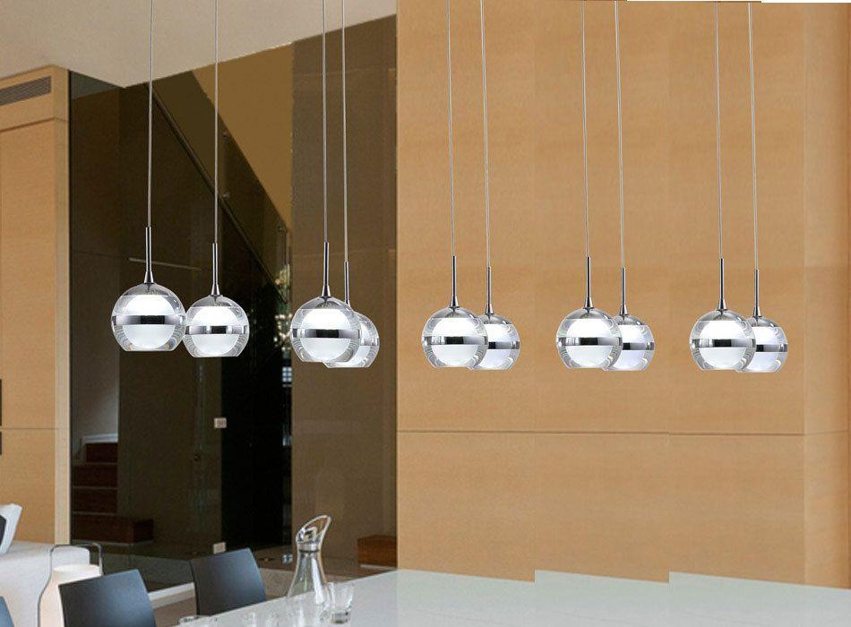 Moderne LED lustre lumières acrylique abat - jour 10 LED Suspension - lustre pour salle a manger