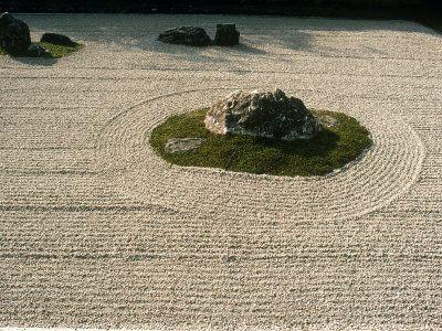 Zen Rock Garden, Ryoanji Temple, Kyoto, Japan - art.com -