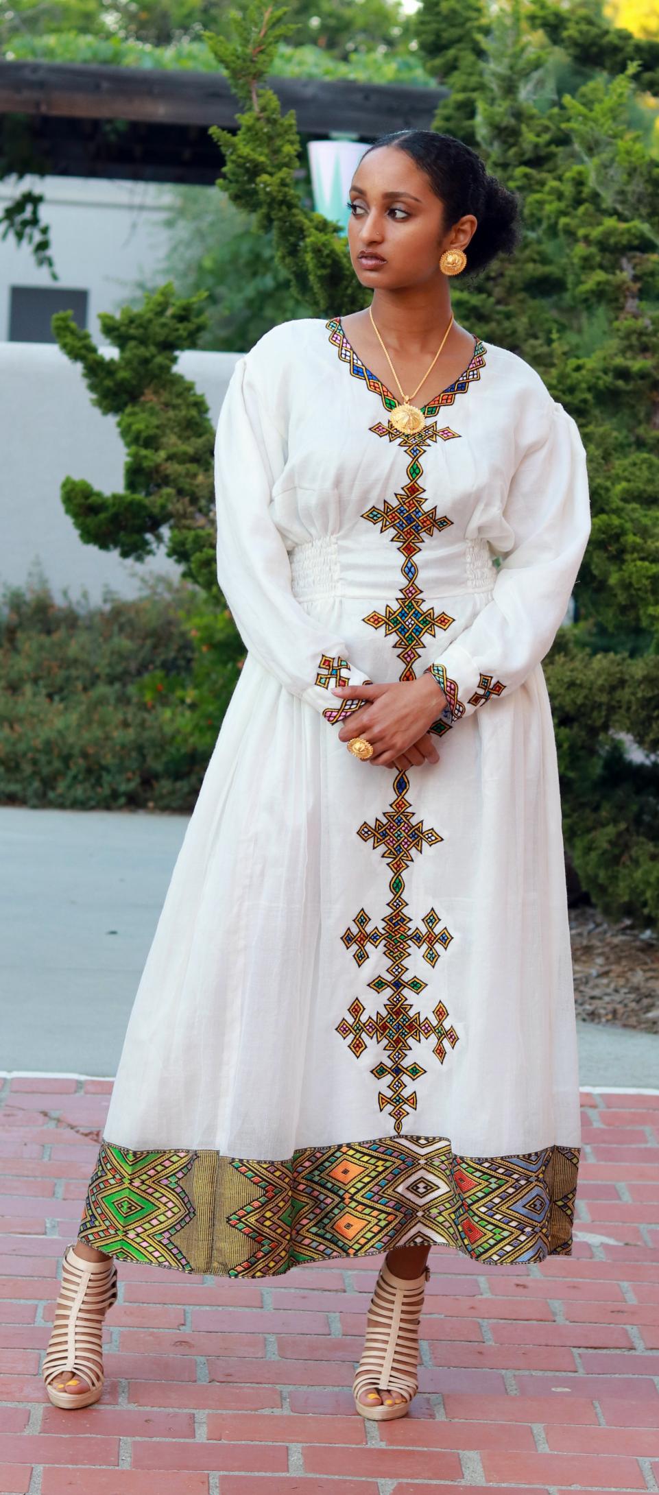 Habesha dresses - telf | Ethiopian Clothing | Pinterest  |Ethiopian Fashion Clothes