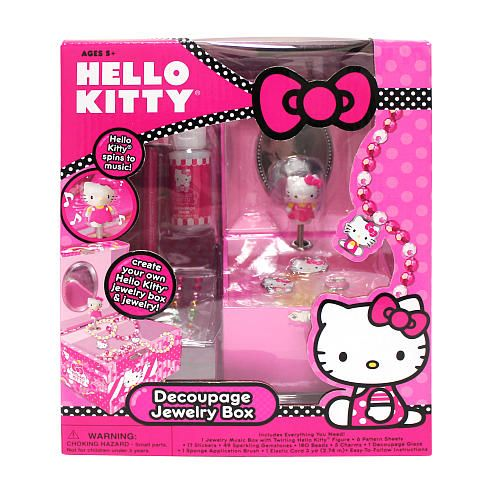 Walmart Hello Kitty Necklace Hello Kitty Decoupage Jewelry Box