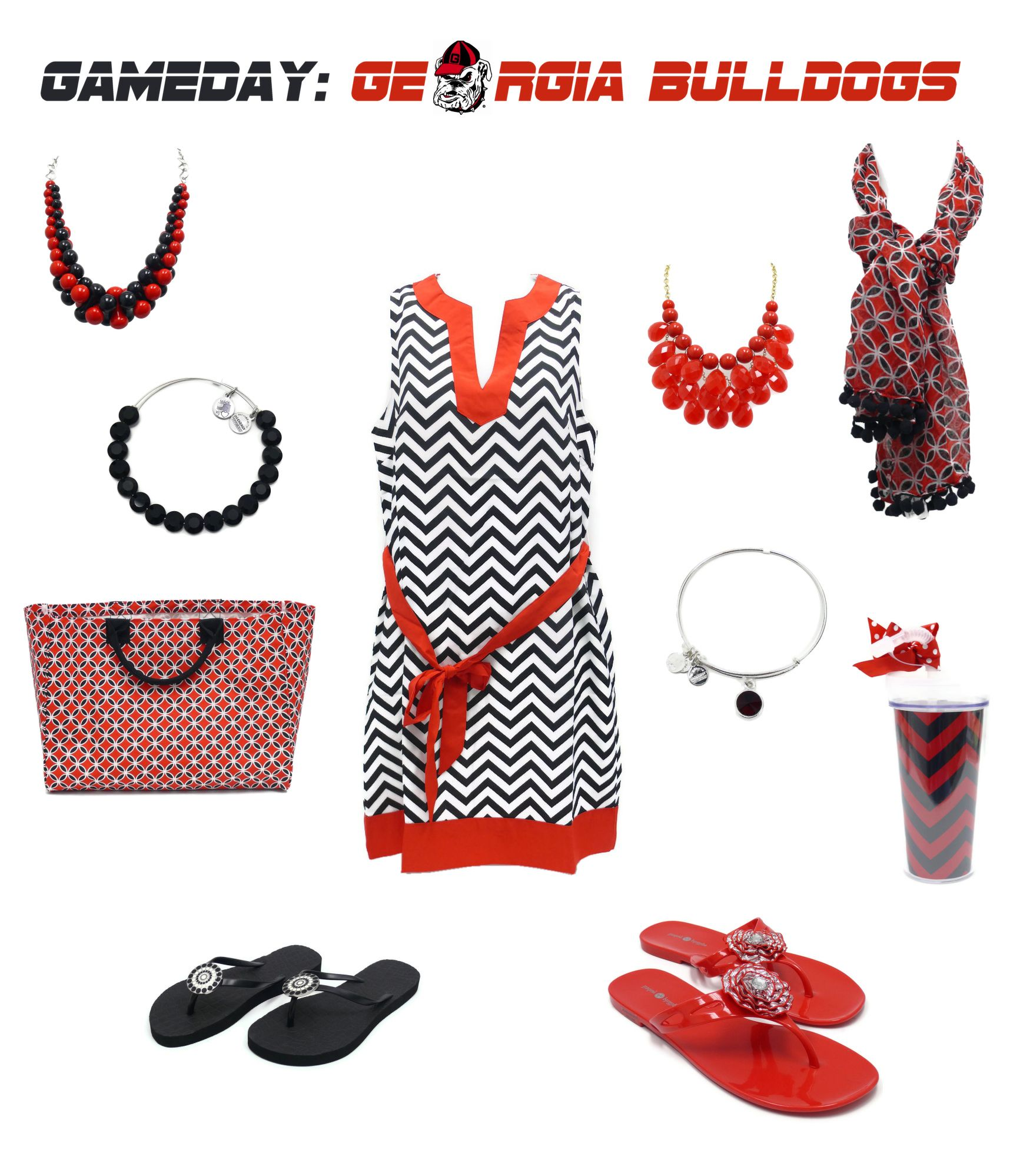 Bulldogs Game Day Outfit and Accessories