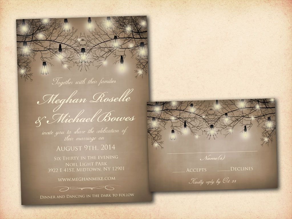 Rustic Wedding Invitation Templates Free cRLnTPrM | Śluby ...