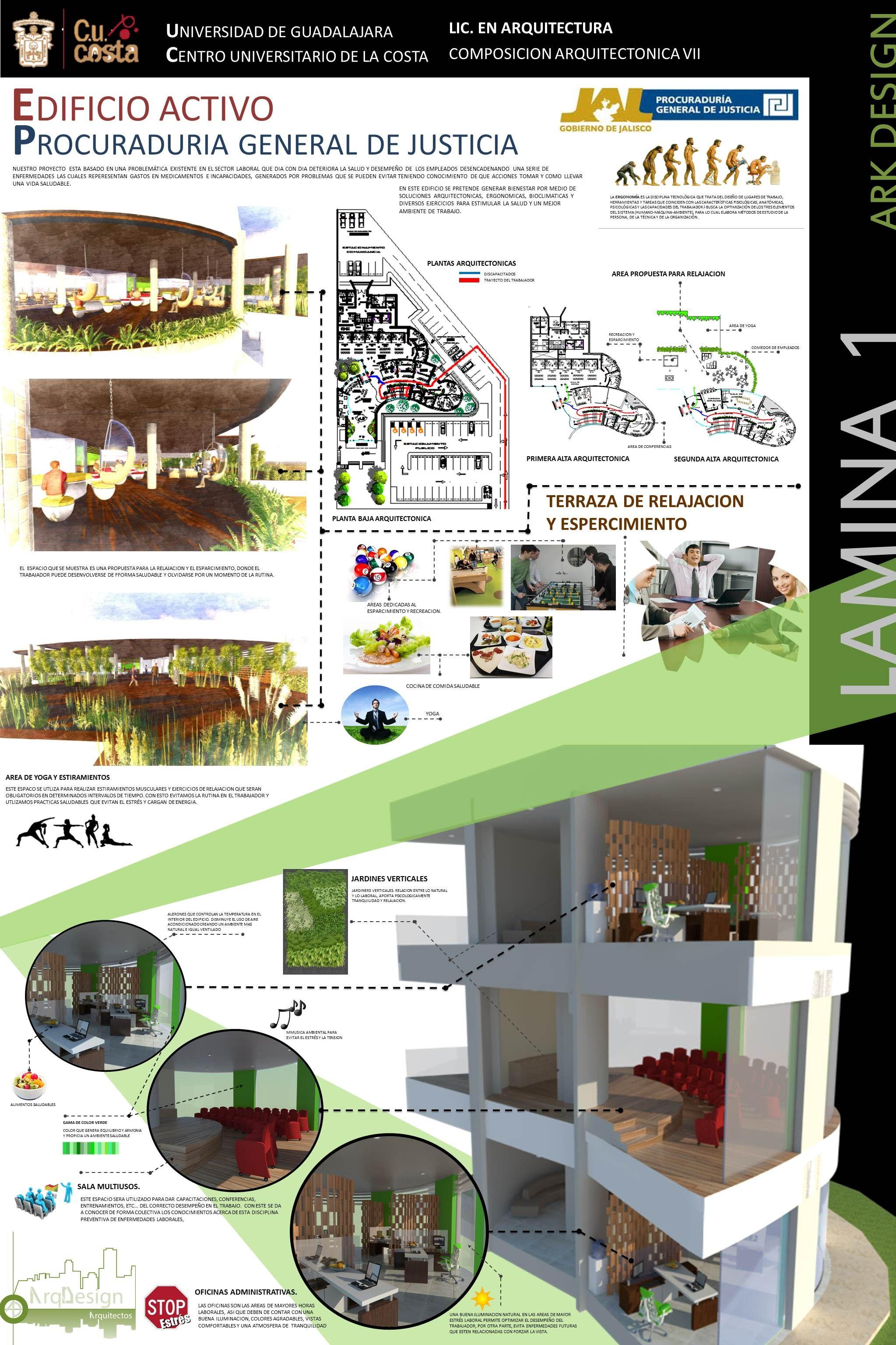 Lamina de presentaci n edificio activo proyecto urbano for Arquitectura sustentable pdf