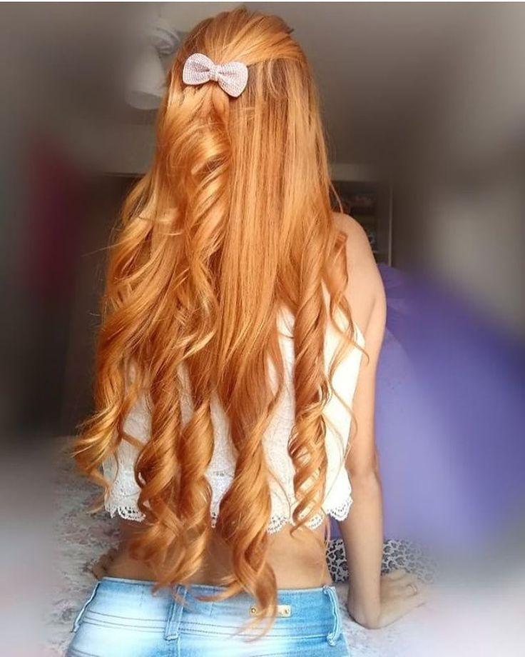 strawdewy ♡ | long red hair, curls for long hair, ginger
