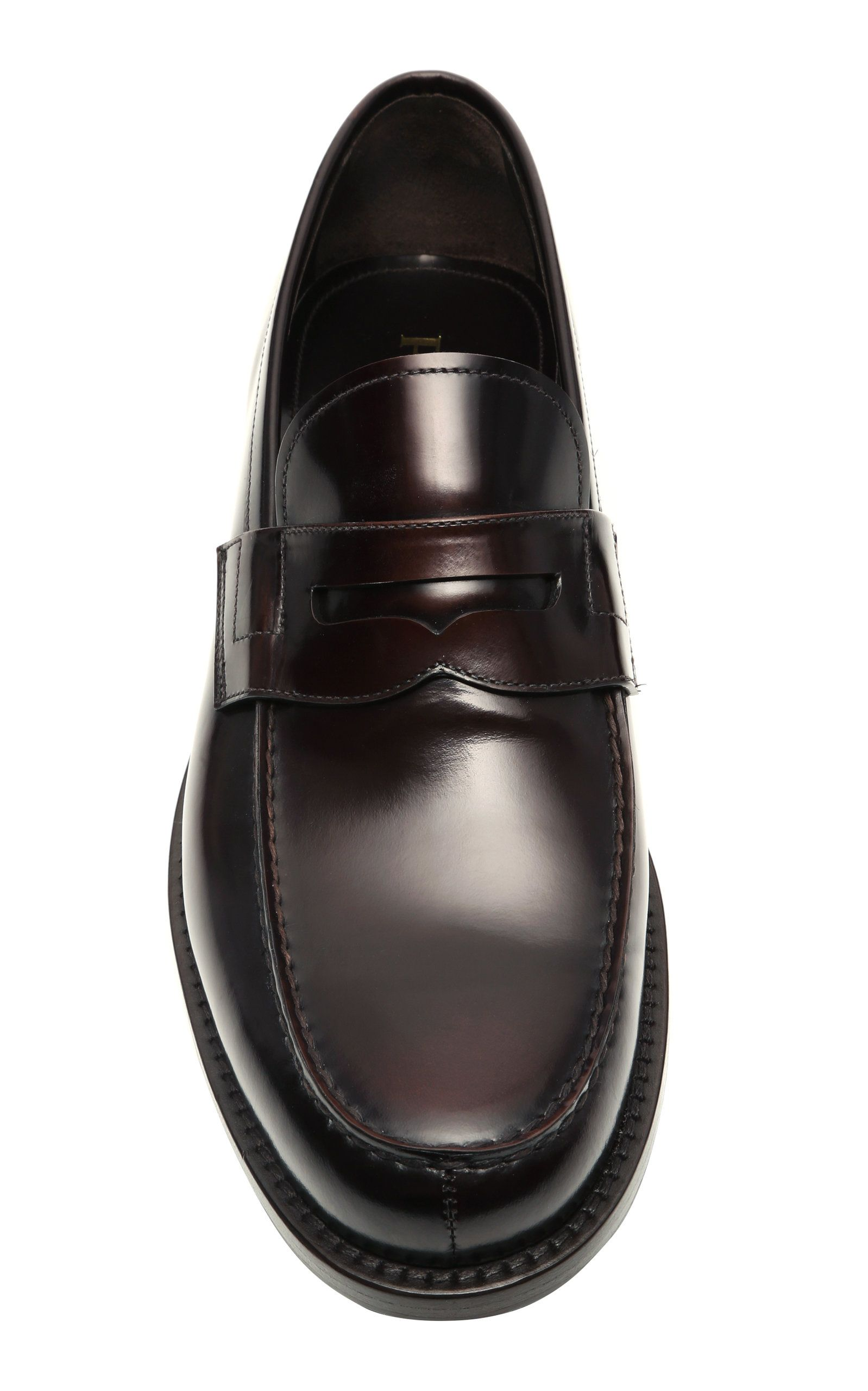 Prada Leather Penny Loafers in 2020