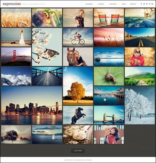 Expression Responsive Photography Theme