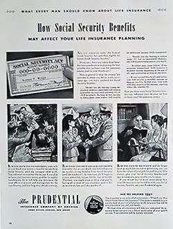 1942 The Prudential Life Insurance Company Magazine Advert Life