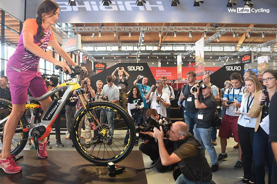Electric mountain bikes were a big thing at Eurobike