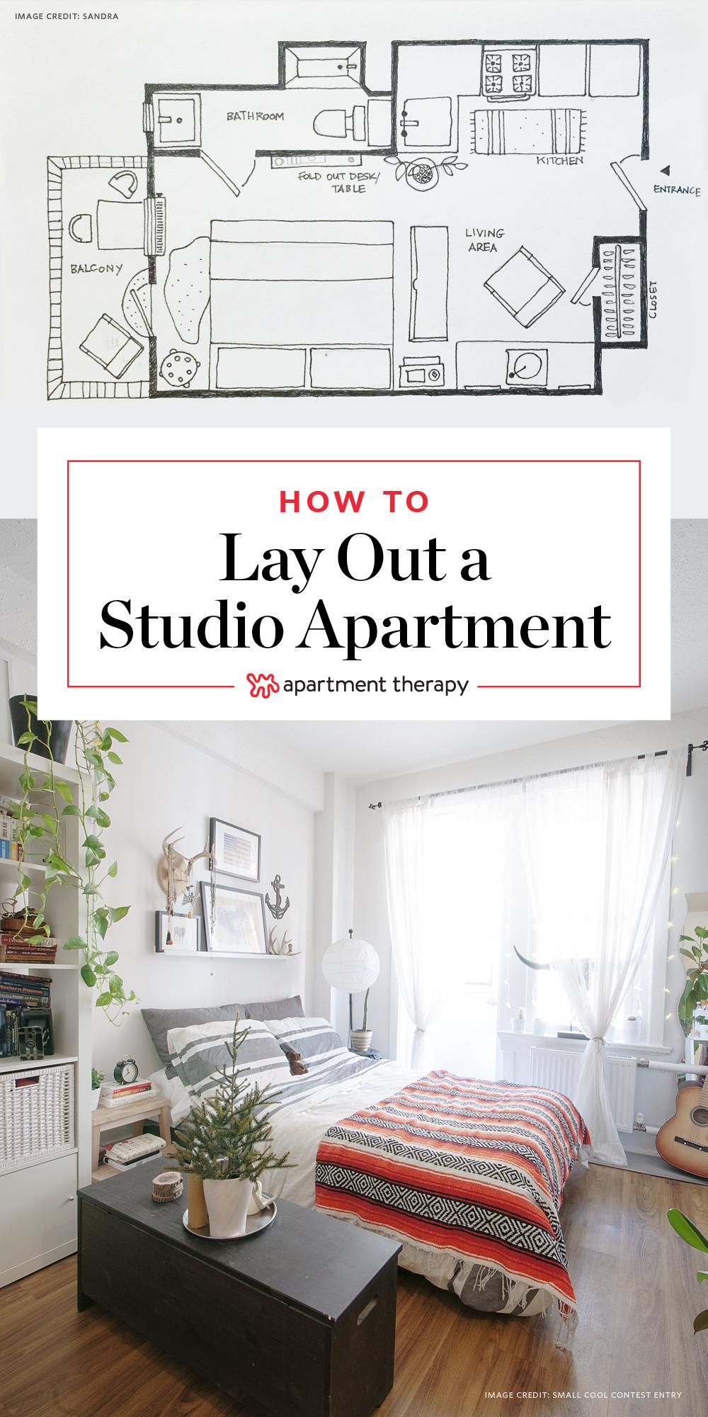 Design Your Own Bedroom App Fair 5 Studio Apartment Layouts That Work  Studio Apartment Layout Design Decoration