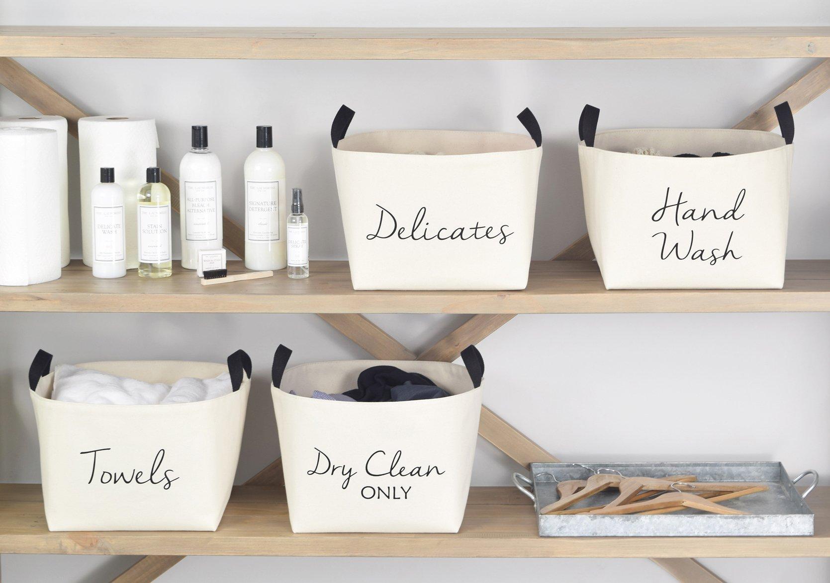 Towels Canvas Storage Basket Laundry Room Storage Canvas