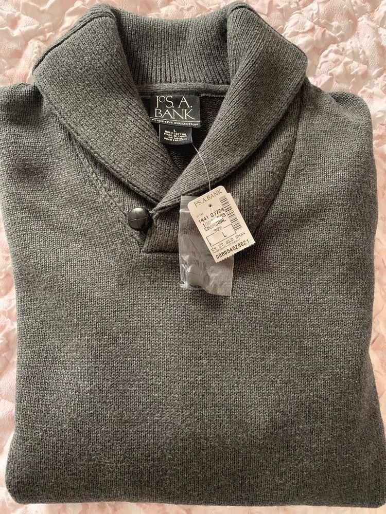 Joseph A Bank Charcoal Mens Sweater SIZE L fashion
