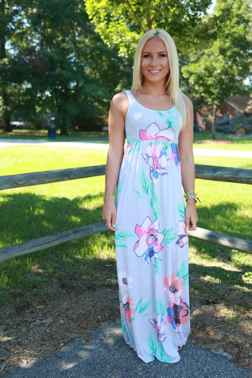 Summer sunset maxi dress gray floral maxi dress floral maxi and
