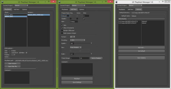 gf_playblastManager for Maya   Resources: Tools and Scripts