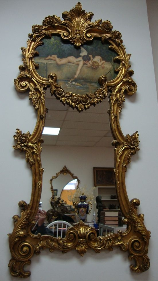Oil Painting On Mirrors Angels Oil Painting Mirror