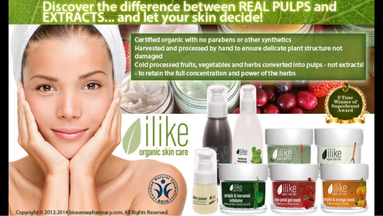 The Products Of Ilike Organic Skin Care Contain Whole Fruit And Herb Pulls As The Primary Active Ingredient Rath Organic Facial Herbal Therapy Organic Wellness