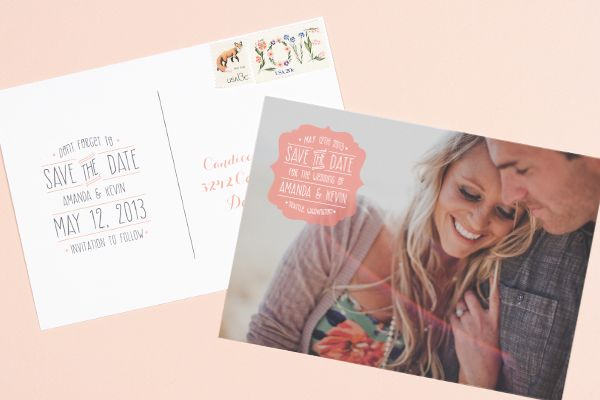 save the date postcard // saves money and is super cute