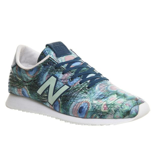 0d1583dd80829 New Balance U420 ($93) ❤ liked on Polyvore featuring shoes, sneakers,  peacock green, trainers, unisex sports, peacock feather shoes, green shoes,  ...