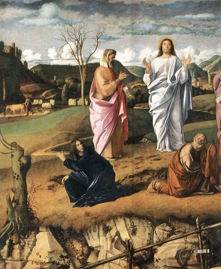 Transfiguration of Christ (detail) - Giovanni Bellini, 1487