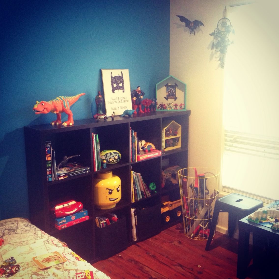 Ashton's new cube shelf for book and toy storage/display