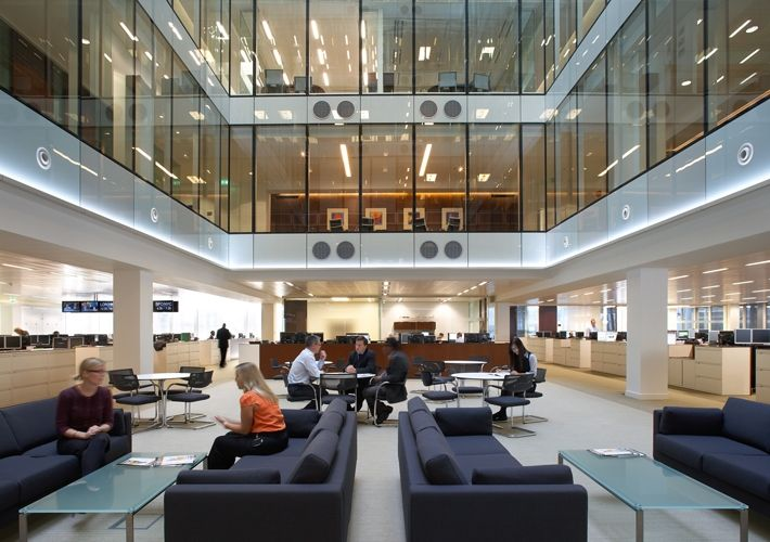 Offices overlooking public space inside the building or the entrance lobby baraka office - Small office space london property ...