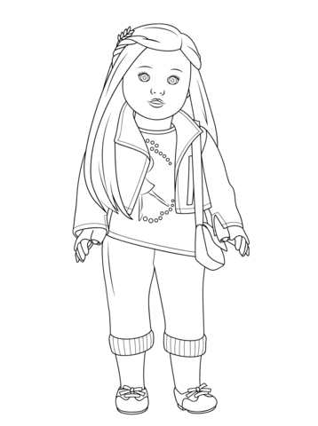 American Girl Isabelle Doll coloring page from American Girl ...