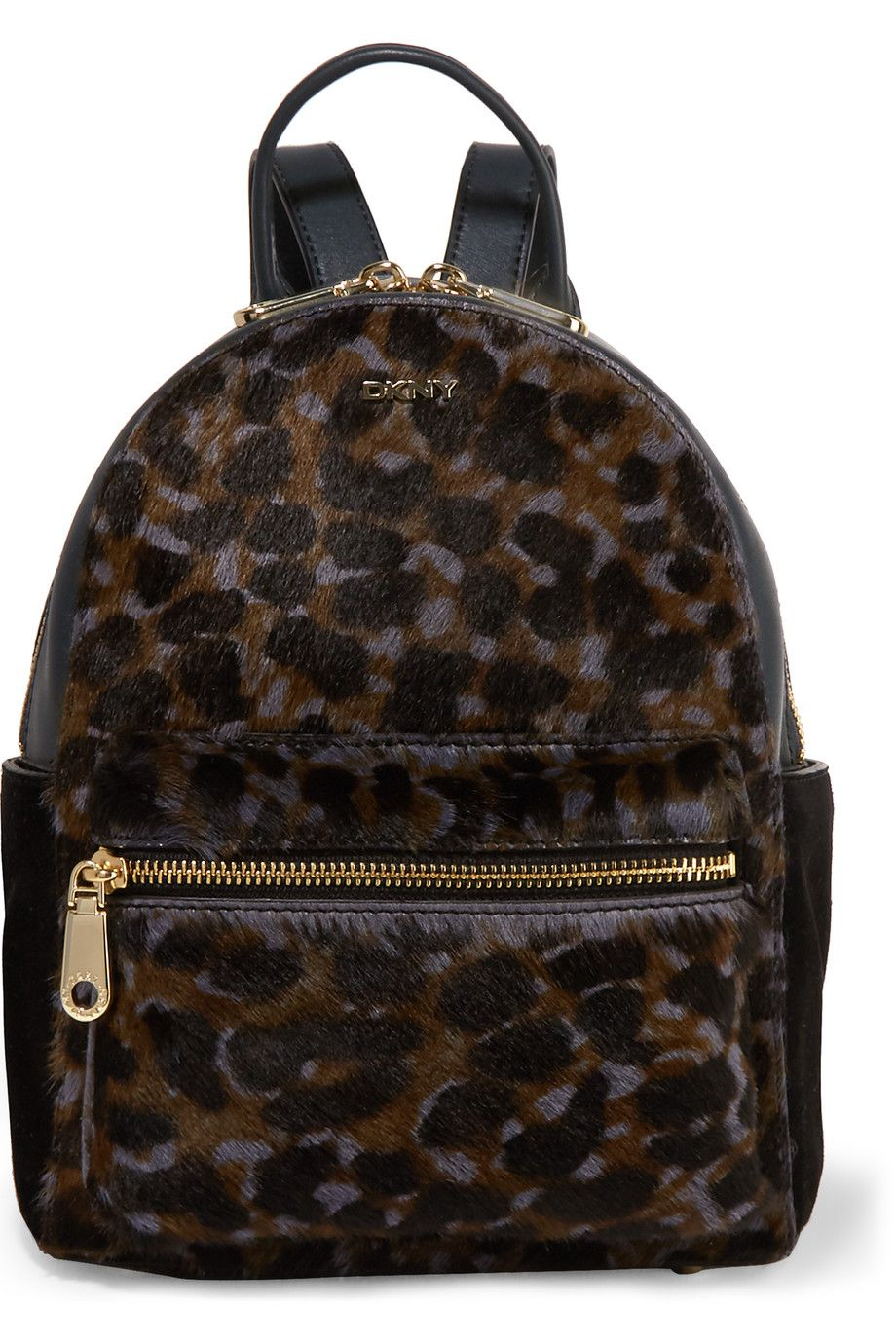 7e171475c2 DKNY Leopard-Print Calf Hair And Leather Backpack.  dkny  bags  glitter   fur  backpacks  suede