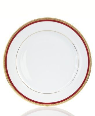 Charter Club Plates. Charter Club Dinnerware Red Rim Dinner Plate. #charter #  sc 1 st  Pinterest : dinner plate chinaware - pezcame.com