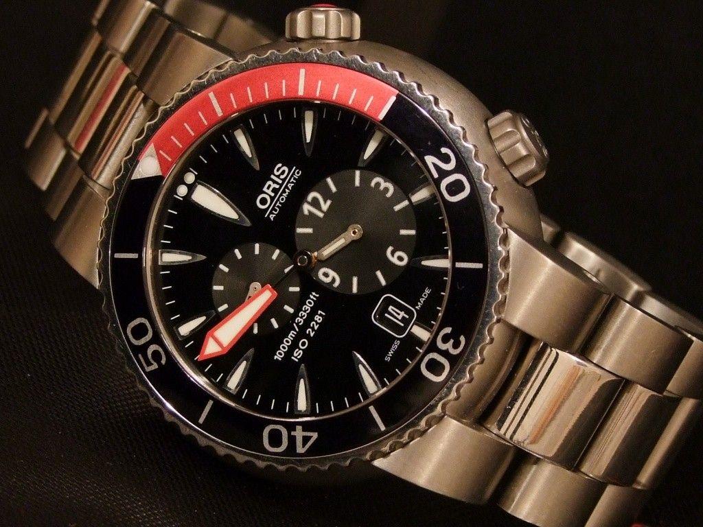 Oris Divers Regulateur   Watch   Pinterest   Montre automatique ... 020a1af5a4ae