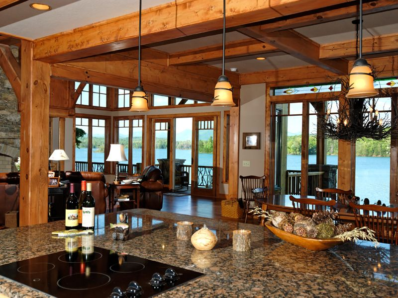 Taos Luxury Mountain Home Luxury House Plans Timber Frame Kitchen Architectural Design House Plans