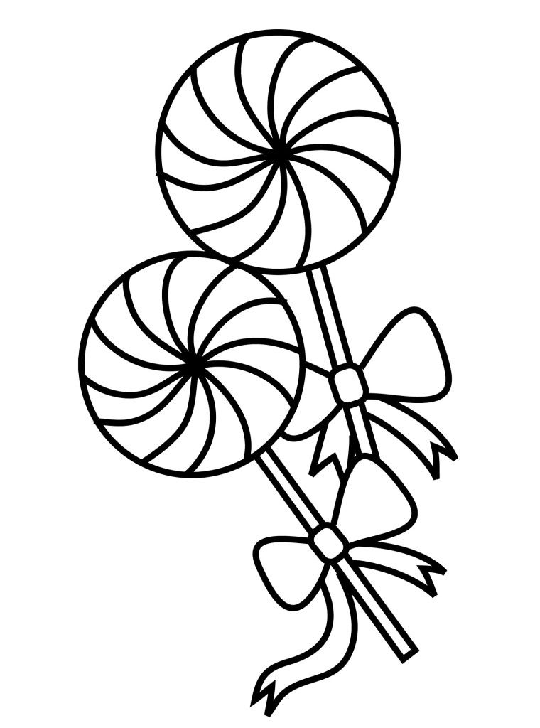 Lollipop Coloring Page | Coloring page patterns | Pinterest ...