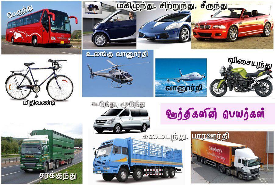 வ கனங கள ன தம ழ ப யர கள Bus Vehicles