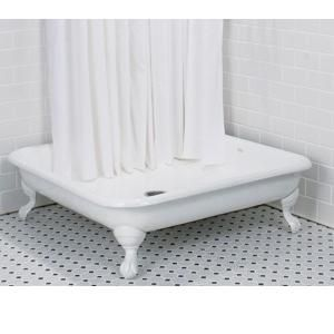 I Would Have Loved To Use This Cast Iron Shower Base For My 50s Bathroom  Renovations