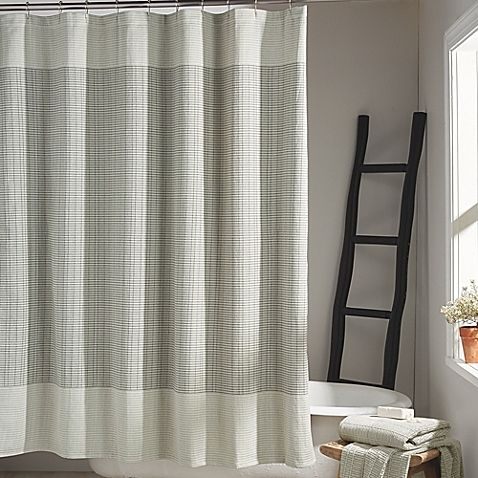 Dkny Reg Network Shower Curtain In Platinum Curtains Shower