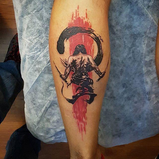 Zen Circle Trashpolka Samurai Tattoo Beratbumin Baykuşevi