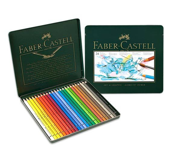 24 Faber Castell Watercolor Pencils Watercolour Colored Pencil