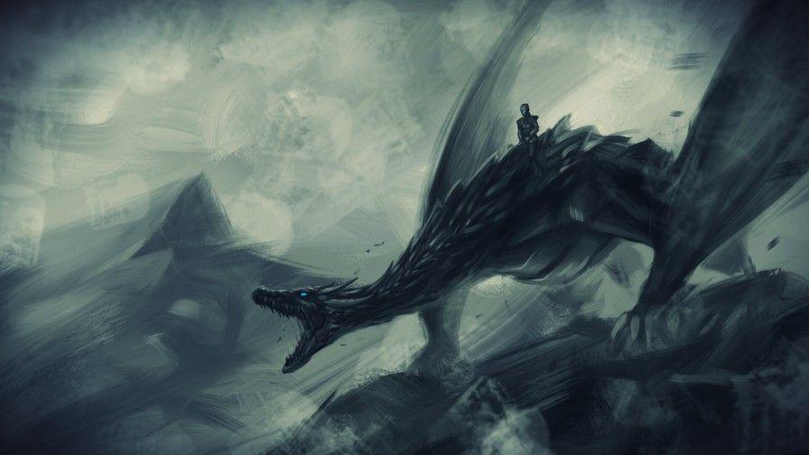 Night King Riding Ice Dragon Viserion 3840x2160 Ice Dragon Game Of Thrones Game Of Thrones Dragons Dragon Games