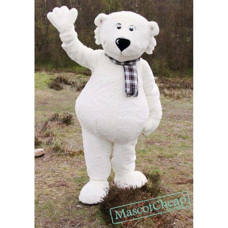 White Walker Polar Bear Mascot Costume Mascot costumes