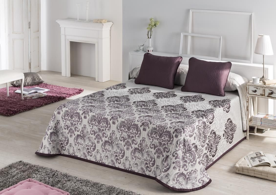 Colcha pique Arno color malva Para camas de 80 a 180 cm