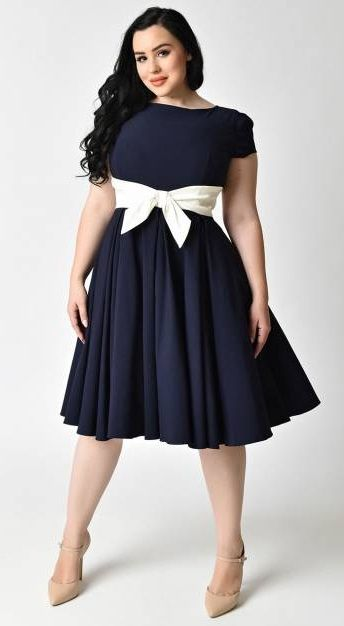 50s Style Party Dresses for Plus Size Women